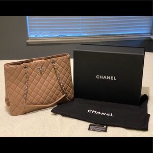 Chanel Large Shopping Bag in Taupe